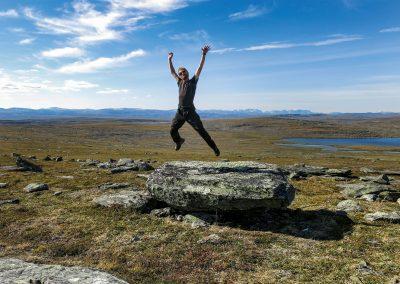 Freiheiten auf dem Nábár-Plateau in der Finnmark