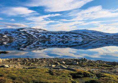 Stimmungen im Gautelisvatnet im Narvikfjell