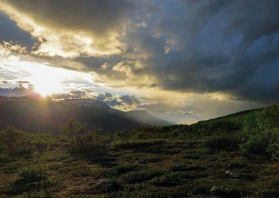 Sonnenuntergang im Övre Dividal National Park
