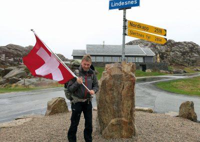 Start der Tour 2013 am Kap Lindesnes